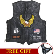 Motorcycle Jacket Mens Motos Biker Moto Vest Sheepskin Leather Riding Punk Retro Jaqueta Casual Ceket Chaqueta