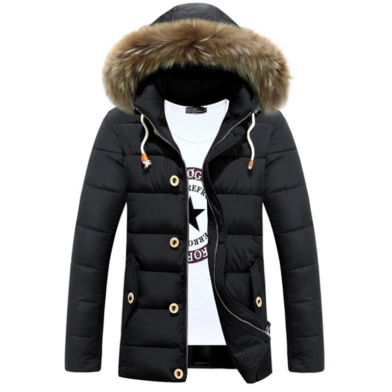 Подробнее о Hot Sale Winter Jacket Men Cotton Hooded fur collar Warm Jackets Mens Casual Thick Outwear Coat Plus size XXL Parka winter jacket men coats thick warm casual fur collar winter windproof hooded outwear men outwear parkas brand new