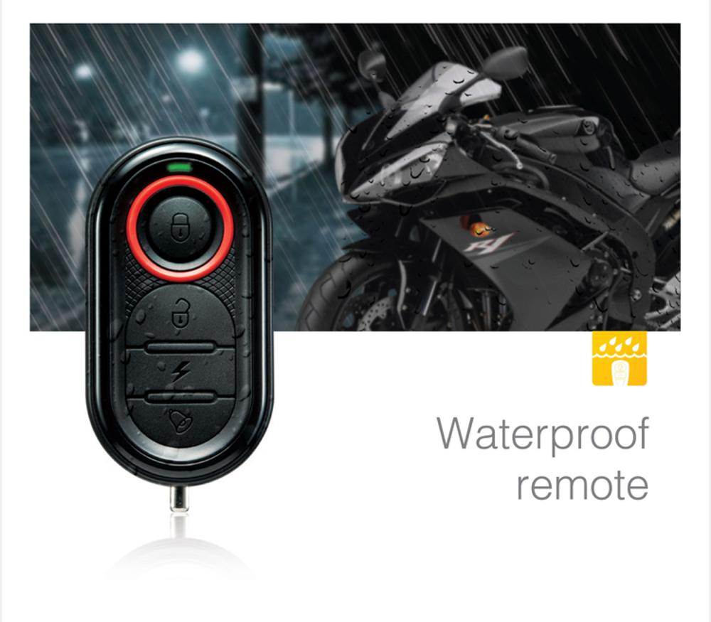 STEELMATE Moto Alarm Remote Start Keyless System Security Vechil System LCD Waterproof