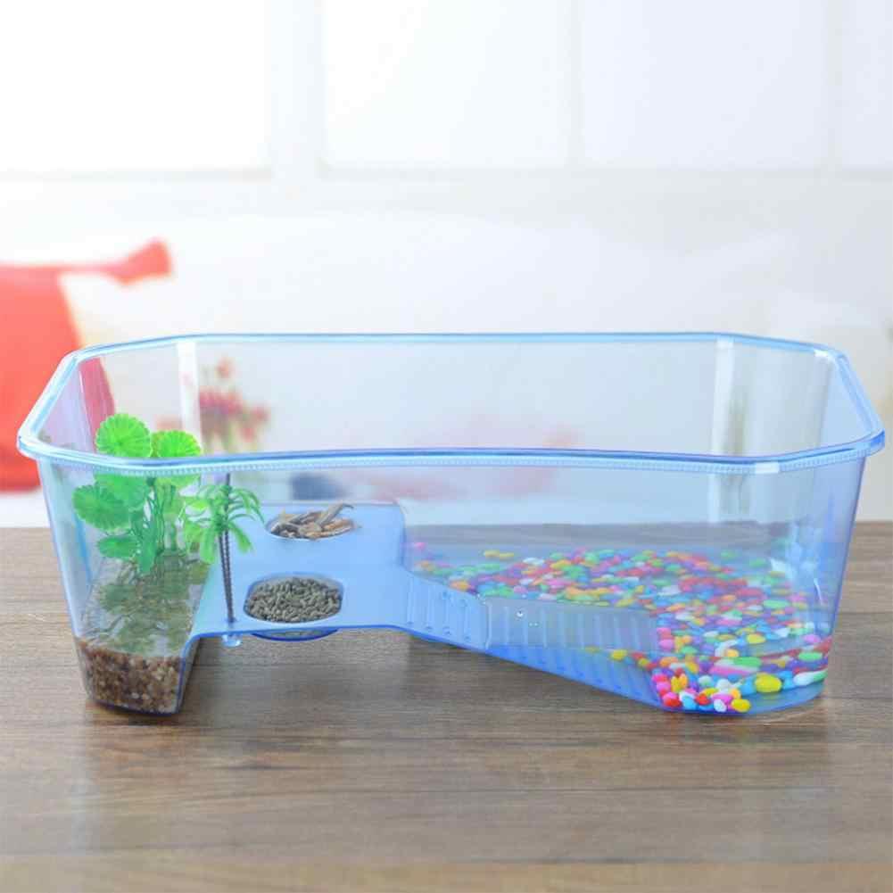 LanLan เต่าสัตว์เลื้อยคลานเต่า Vivarium กล่อง Aquarium ถัง Basking Ramp - 40