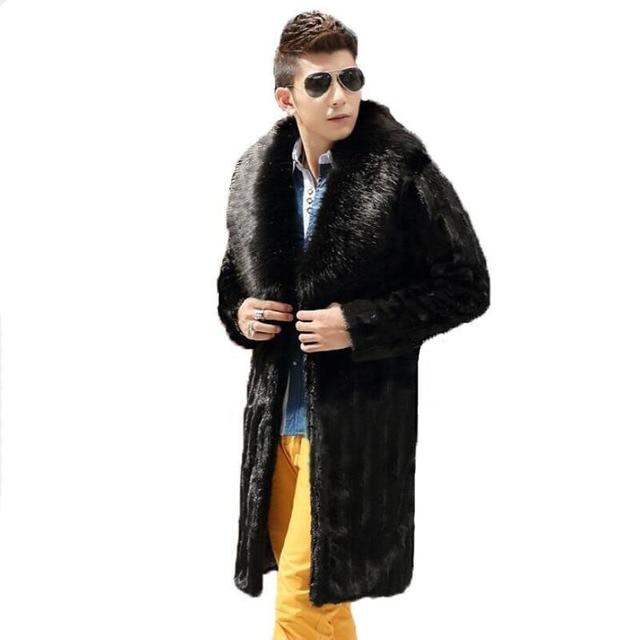 Aliexpress.com : Buy Best selling!Winter men faux fur coat Black ...