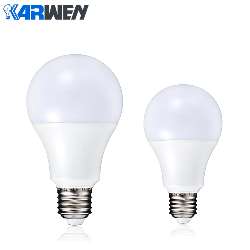 KARWEN Lampada led lamp E27 SMD 2835 led bulb Light 220V High quality 3W 5W 7W 9W 12W Cold Warm White Led Spotlight 2pcs led bulb lamp e27 real power 3w 5w 7w 9w 12w 15w 220v cold white warm white lampada led high brightness ceiling night light