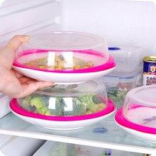 Tampa de vedação de silicone à prova de vazamento redonda, cobertura de microondas cobrir alimentos manter fontes de malha frescas para fontes de cozinha