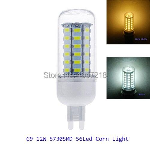 G9 Led Lamps 12W SMD5730 56leds 110V-130V 220-240V Led Corn Bulb Lamp Light for home 220v 1pcs/Lot vbs real wattage 25w 35w 45w led lamp corn bulb 110v 220v e27 aluminum fan cooling 5730 smd led spot light corn light bulb