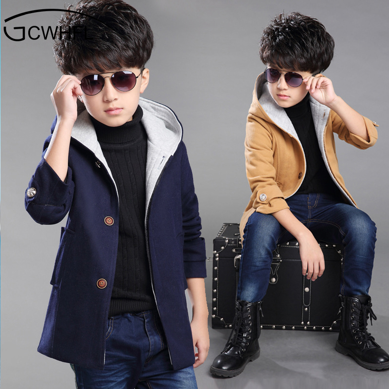 Casual Kids Jackets Winter Boys Coat 2018 New Thickened Hooded Winter Autumn Children Ou ...