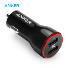 Anker 24W cargador de coche USB Dual PowerDrive 2 para iPhone Samsung Galaxy; LG G4/G5; google Nexus; dispositivos iOS y Android(China)