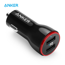 Anker cargador USB Dual para coche, 24W, PowerDrive 2, para iPhone, Samsung Galaxy, LG G4/G5, Google Nexus, dispositivos iOS y Android