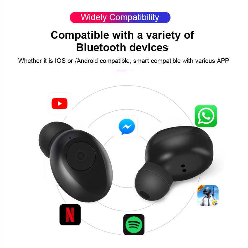 TWS, беспроводные наушники, Bluetooth 5,0, наушники, громкая связь, бас, стерео, спортивные наушники, гарнитура для телефона с зарядным устройством, двойной микрофон