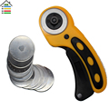 45mm Rotary Cutter and 10PC Spare Blades Fit Olfa Dafa Fiskars Fabric Paper Circular Cut Patchwork Craft Leather DIY Tool