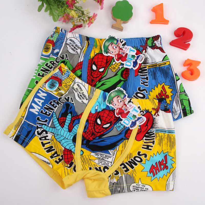 Underpants Briefs for Boys Underwears Panties Infant Boxers Briefs Shorts Cotton Cartoon Teenagers Underwears for 3-11 years old 1