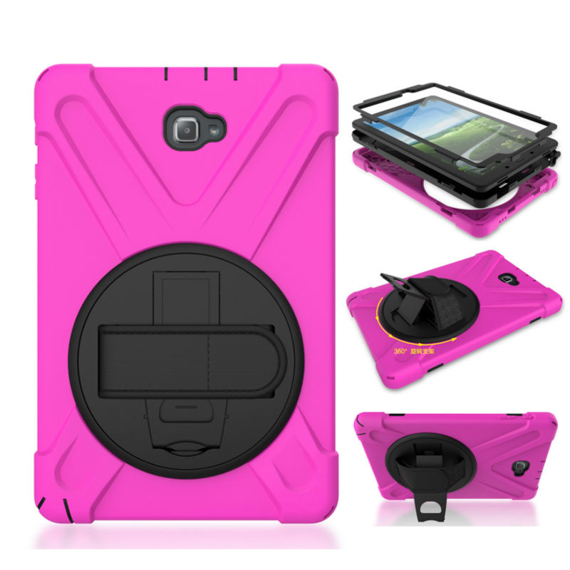 Tab A P580 P585 Heavy Duty Tablet Case Cover 10.1'' Fundas For Samsung GALAXY Tab A 10.1 P580 P585 SM-P580 Protective Stand Skin armor kickstand case funda for samsung galaxy tab s3 9 7 sm t820 sm 825 case cover tablet safe shockproof heavy duty stand shell