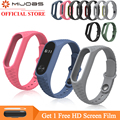 Mijobs Silicone Aurora Bracelet Wristband For Xiaomi Mi Band 2 Strap Smart Watch Replacement Accessories Miband 2 Wrist Strap