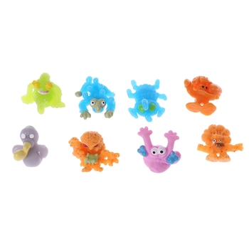 HBB 1PC Novelty Soft TPR Sticky Stress Reliever Toy Gadgets Squeeze Pinch Toys Kids Gift Random Color image