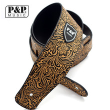 P P PU leather Guitar Strap for Electric Bass Guitar Snakeskin brand