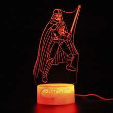 цена на Kids Gifts Projection Lamp Darth Vader Figure Lamp Party Decoration Remote Control Touch 3d Table Lamp Led Night Light