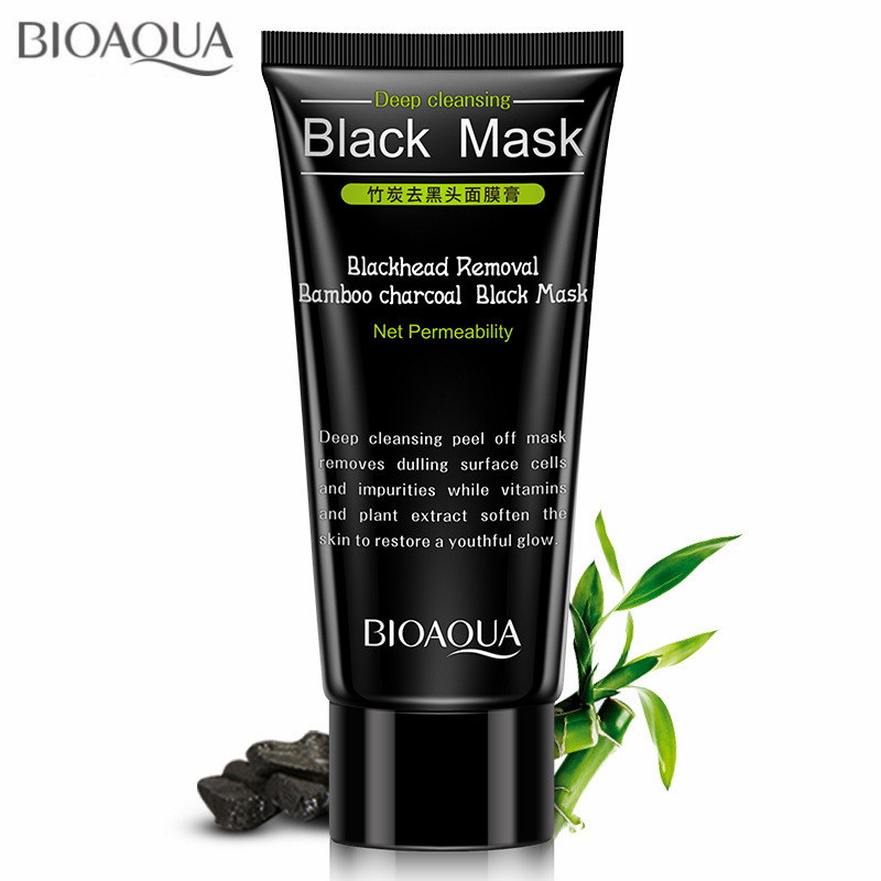 Blackhead Removal Bamboo charcoal Black Mask Deep Cleansing Peel Off Mask Pores Shrinking Acne Treatment Oil-control Комедон