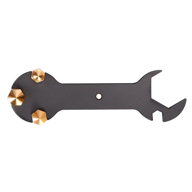 Запчасти для 3D-принтера, гаечный ключ 5 в 1, гаечный ключ, инструмент для сопла, стальной гаечный ключ, многофункциональный ключ, плоский гаечный ключ для MK8, сопло MK10