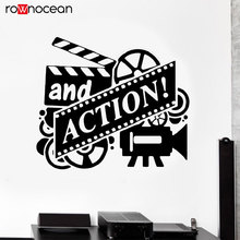 Action Wall Decal Film Drama Class Director Vinyl Home Deocr Wall Sticker Movie Producer Removable Mural Studio Wallpaper 3R32