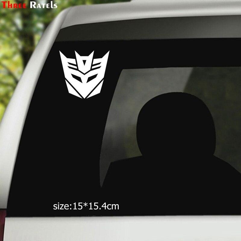 Three Ratels TZ-1427 15x15.4см трансформер наклейки на авто наклейки на машину автонаклейка стикер
