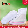 Sunvo 360 Degree Waterproof Shoes Covers for Men Women Rainy Shoe Protection Boots Cover Reusable Overshoes Boot Accessories