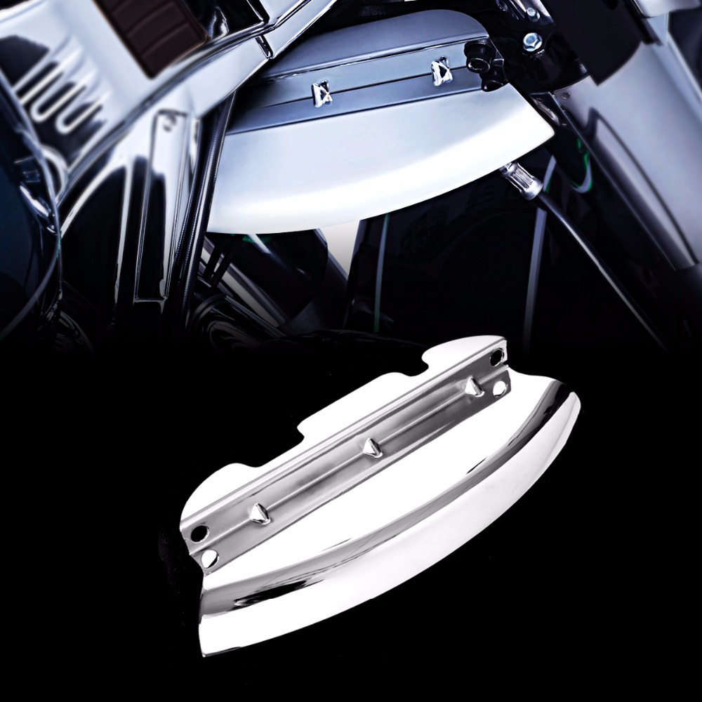 Chrome Lower Triple Tree Wind Deflector For Harley Touring Electra Street Glide FLH/T FLHX 2014 2015 2016 2017 2018 1 pair batwing fairing side wing deflector for harley touring 2014 2016 electra street glide