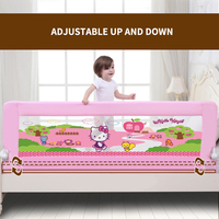 4 Size Blue Pink Color120/150/180/200cm Baby Bed Fence Guardrail Baby Crib Guardrail Bed Rails Bed Buffer type Meters General