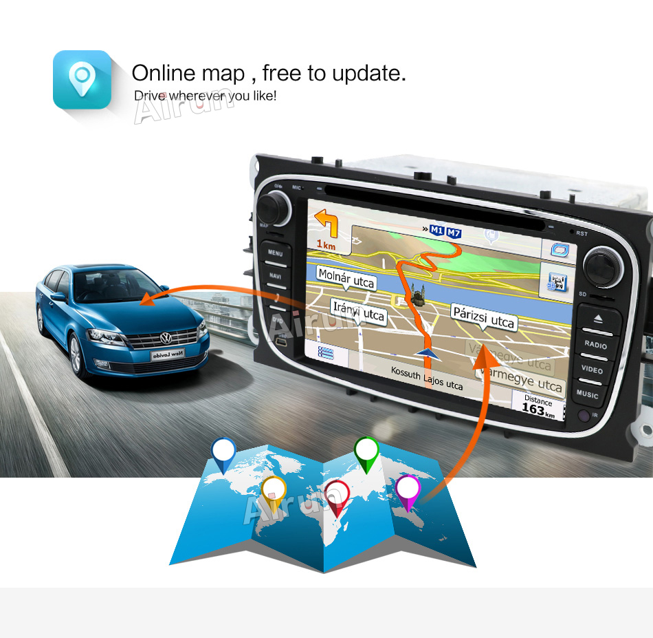 Quad Core 2din Android 7.1 Car DVD үшін Ford Mondeo C-max S max - Автомобиль электроникасы - фото 4