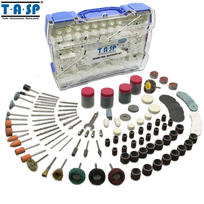 TASP 268PC Rotary Tool Accessories Kit Mini Drill Abrasive Bit Set for Grinding Sanding Carving Polishing Cutting Drilling