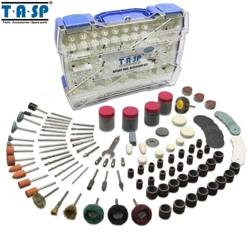 TASP Rotary Tool Accessories Kit Mini Drill Bit Set 268PC for Polishing Cutting Abrasive Tools