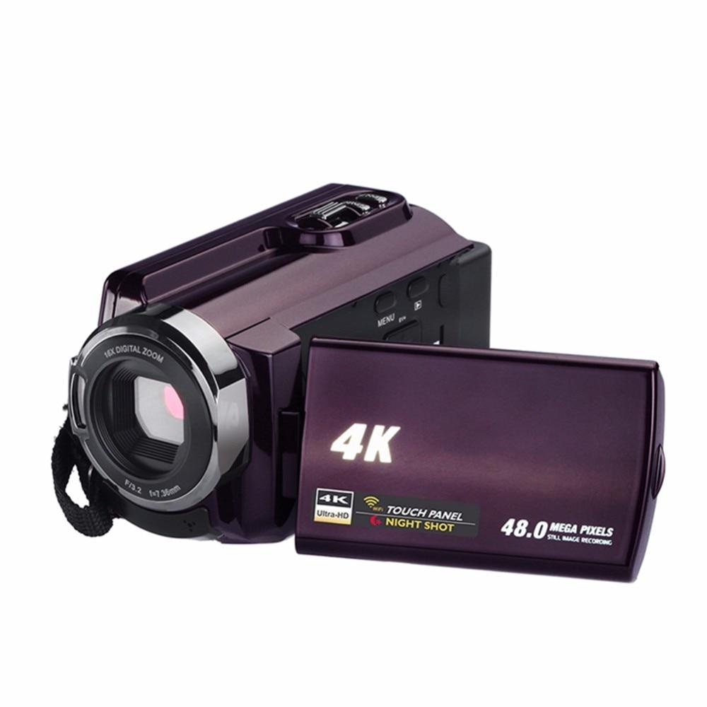 4 K Caméscope Vidéo Caméra Caméscopes 48.0MP 60 FPS Ultra HD Numérique Caméras et Enregistreur Vidéo avec Wifi/Infrarouge nuit Vision