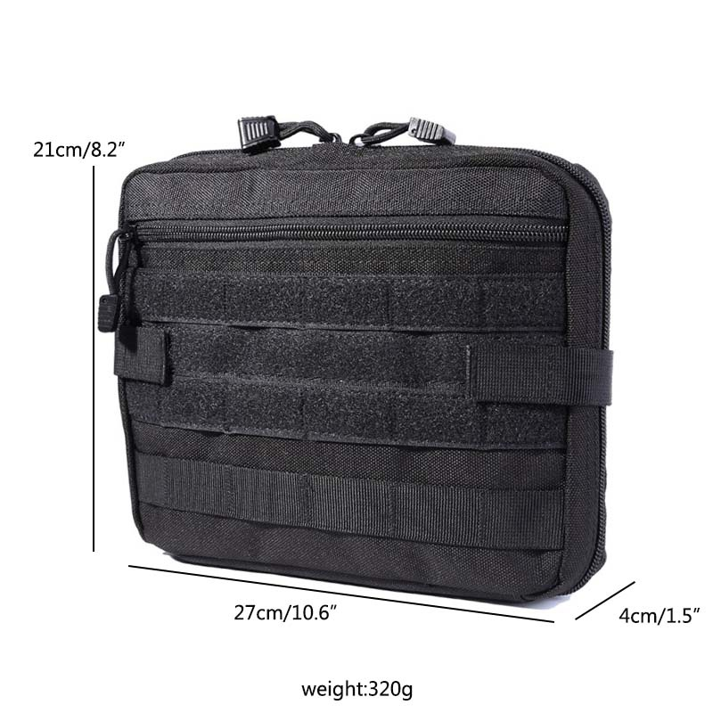 Outdoor Tactical Molle Pouch Multi-functional Bag 1000D Nylon Durable Waterproof Zipper Large Capacity Medicine Case Bags