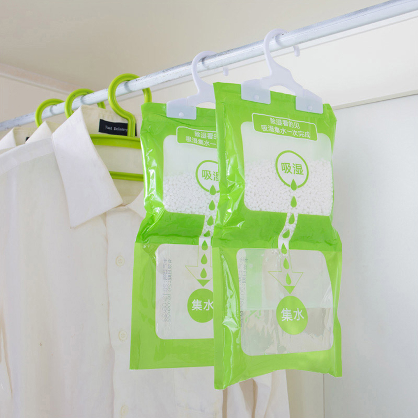 1PC Moisture Absorbent Bag Closet Dehumidizer Desiccant Bag Dehumidifier Bags Wardrobe Desiccant Packets for home Cleaning Tools
