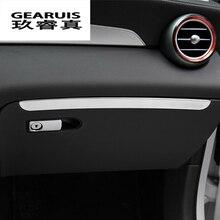 Стайлинга автомобилей пилот ящик для хранения украшения отделка наклейки перчатки Чехлы для Mercedes Benz GLC X253 Класс Авто аксессуары для интерьера