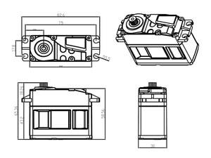 Image 2 - K power M3500 35KG Digital DC motor metal gear rc servo for RC car/rc boat
