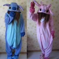 Animal Cosplay Pajamas Costume Women Onesies For Adults Party Pyjamas One Piece Blue Pink Stitch Onesie