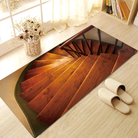 Stair Step Floor Stickers 3D Removable Waterproof Non slip Mural Decal Wall Stickers Bathroom Living Bedroom Home Decor 60x120cm