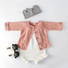 все цены на Ins Baby Girl Sweater Child Boy Sweater Cardigan Jacket Cardigan Romper Dress Warm Girls Knitted Top Kids Children Clothing онлайн