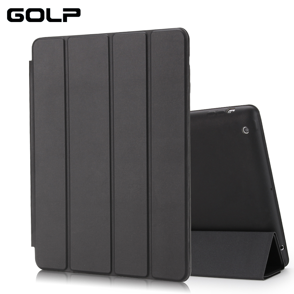 For ipad 4 3 2 Case, GOLP Ultra Slim Flip Case For ipad 3 Smart Shockproof Stand Holder Protective Case for ipad 2 cover стоимость