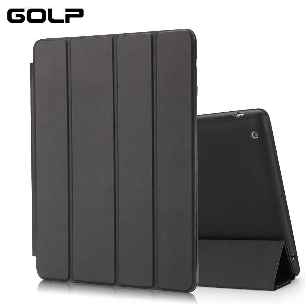 GOLP Da PU Thông Minh Dành Cho iPad 2/3/4 Tự Động Ngủ Full Bảo Vệ PU Cấp Kiểu bao Da thông minh dành cho iPad 4 3 2