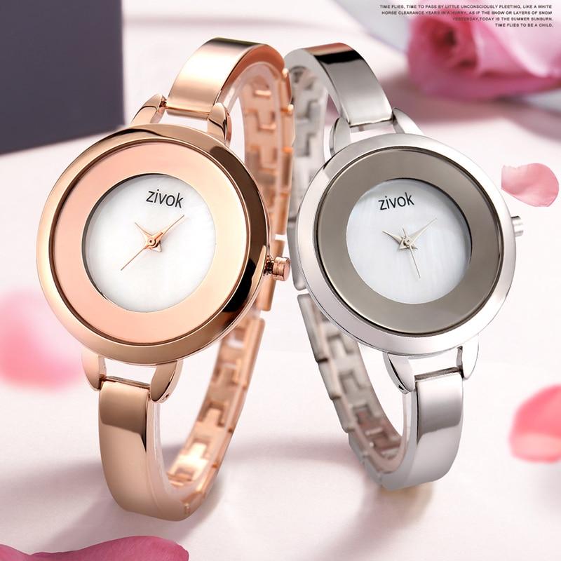 zivok Luxury Gold Relogio Feminino Lover reloj de pulsera para mujer - Relojes para mujeres