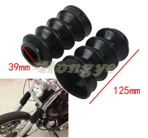 Motorcycles 39mm Front Fork Rubber Gator Gaiters Boots Covers For Harley XL883 Sportster 1200
