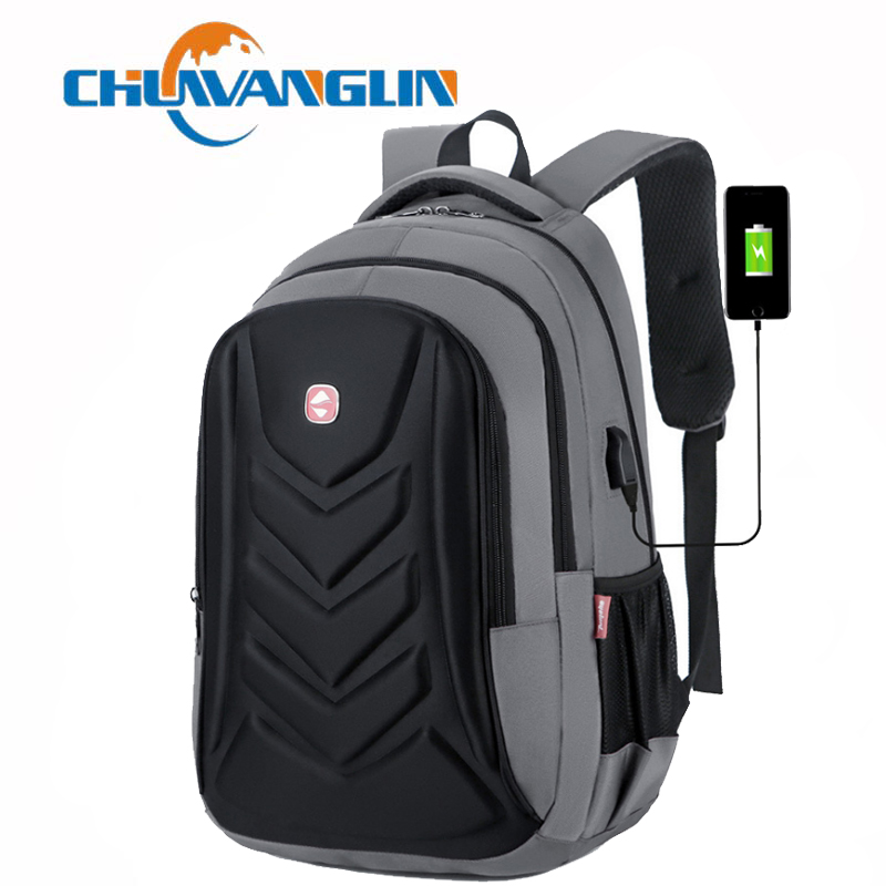 Chuwanglin 15.6 Inch Laptop Backpack USB Charging Anti Theft Backpack Men Travel Backpack Waterproof School Bag Male Mochila E86