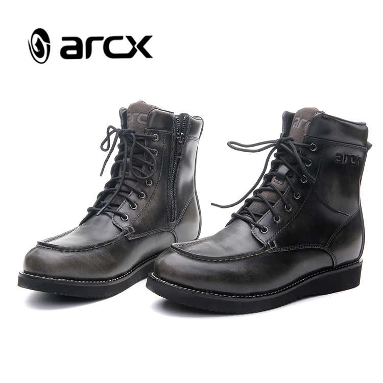 Arcx 手縫い都市スタイルオートバイ乗馬ブーツ esa 保護オフロードバイク靴ストリートバイクオートバイブーツ L60643