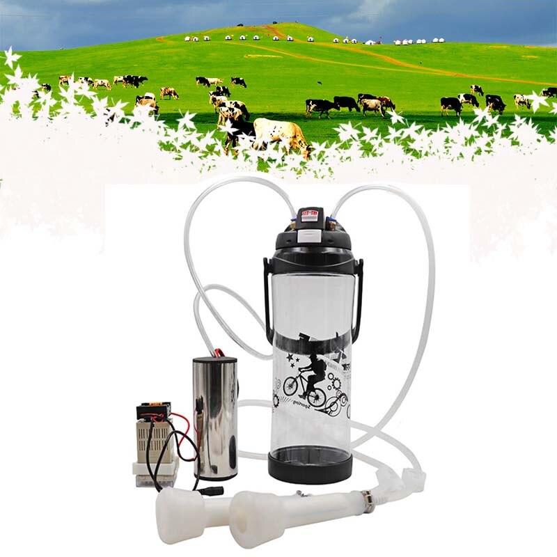 Double Tête Manuel Sucer 3L Machine À Traire Électrique Portable Ferme Lait Bouteille Pompe À Vide Seau Trayeur Baril Moutons Chèvre Vache