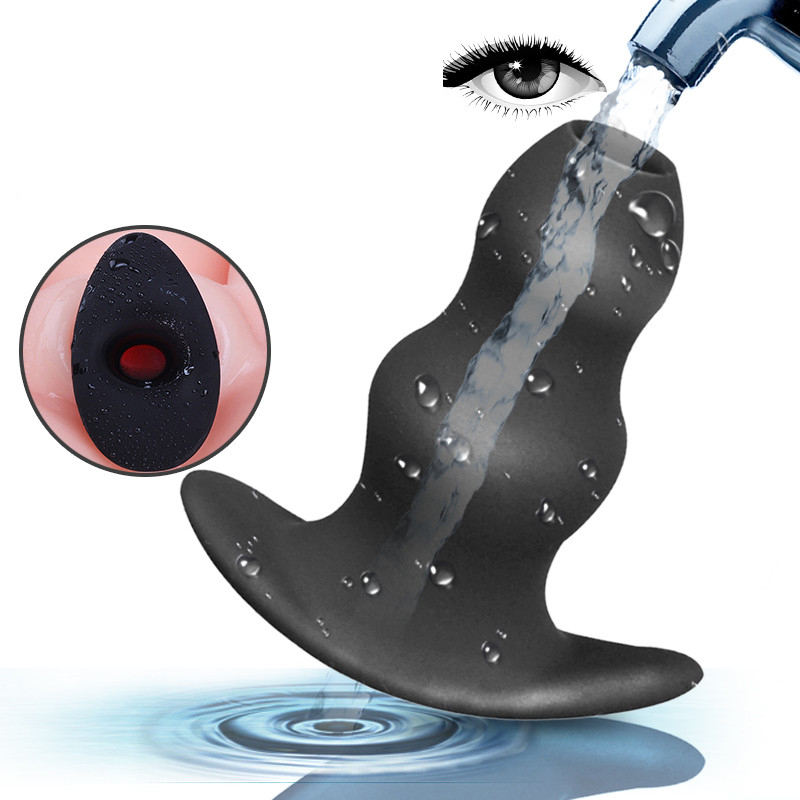 Silicone Bidet Hole Enema Anal Cleaning Retention Nozzle Enema Anal Expanding Anus Dilator Plug Vaginal Enlarge Anal Plug Hole