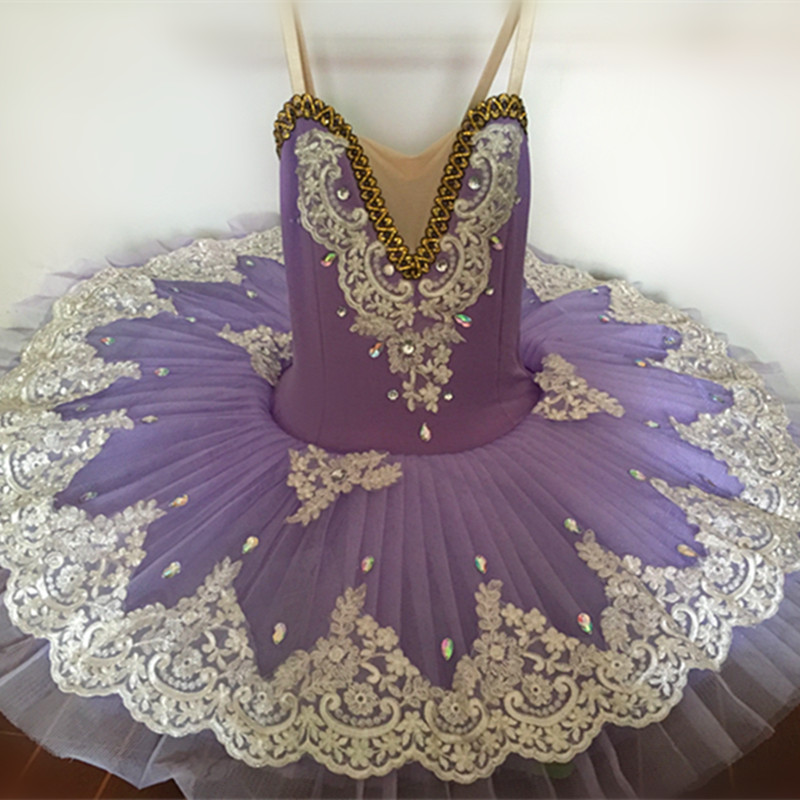 2017 New Children Girls Swan Lake Costume Professional Ballet Tutu Kid Ballerina Dress Ballet Leotards For Women Shiny Dancewear