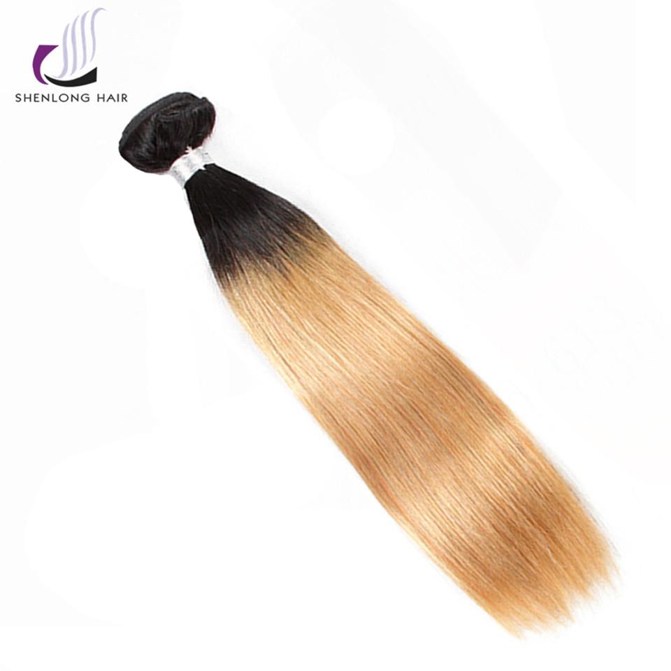 SHENLONG HAIR Straight Malaysian 1B-27 Human Hair Bundles 8-24 Inch 1 - Mänskligt hår (svart) - Foto 3