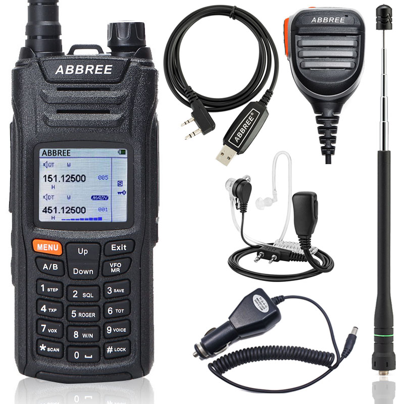 Walkie-Talkie Abbree VOX Long-Range All-Bands Dual-Standby Radio125-560mhz Ham AR-F6