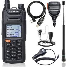 Abbree AR F6 Ham Walkie Talkie Radio125 560MHz Alle Bands lange range Dual Display Dual Standby VOX DTMF SOS LCD Kleur Display