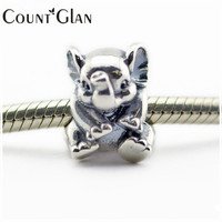 Fits Pandora Bracelet Diy Lucky Elephant Charms Beads 925 Sterling Silver Thread Diy Beads For Jewelry